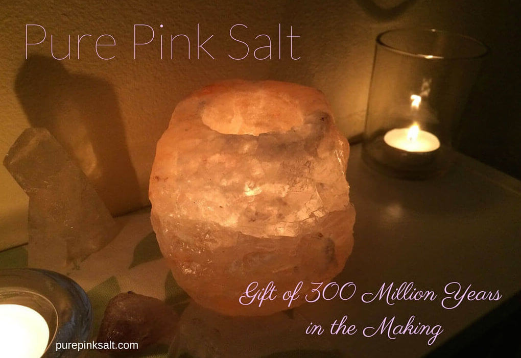 Salt Candle Holder Pure Pink