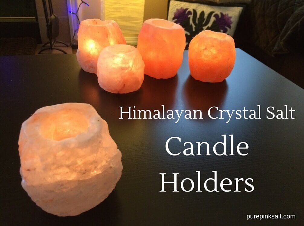 Himalayan Crystal Salt Candle Holder