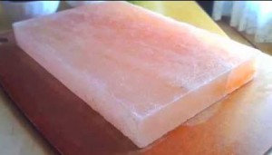 pure pink salt block