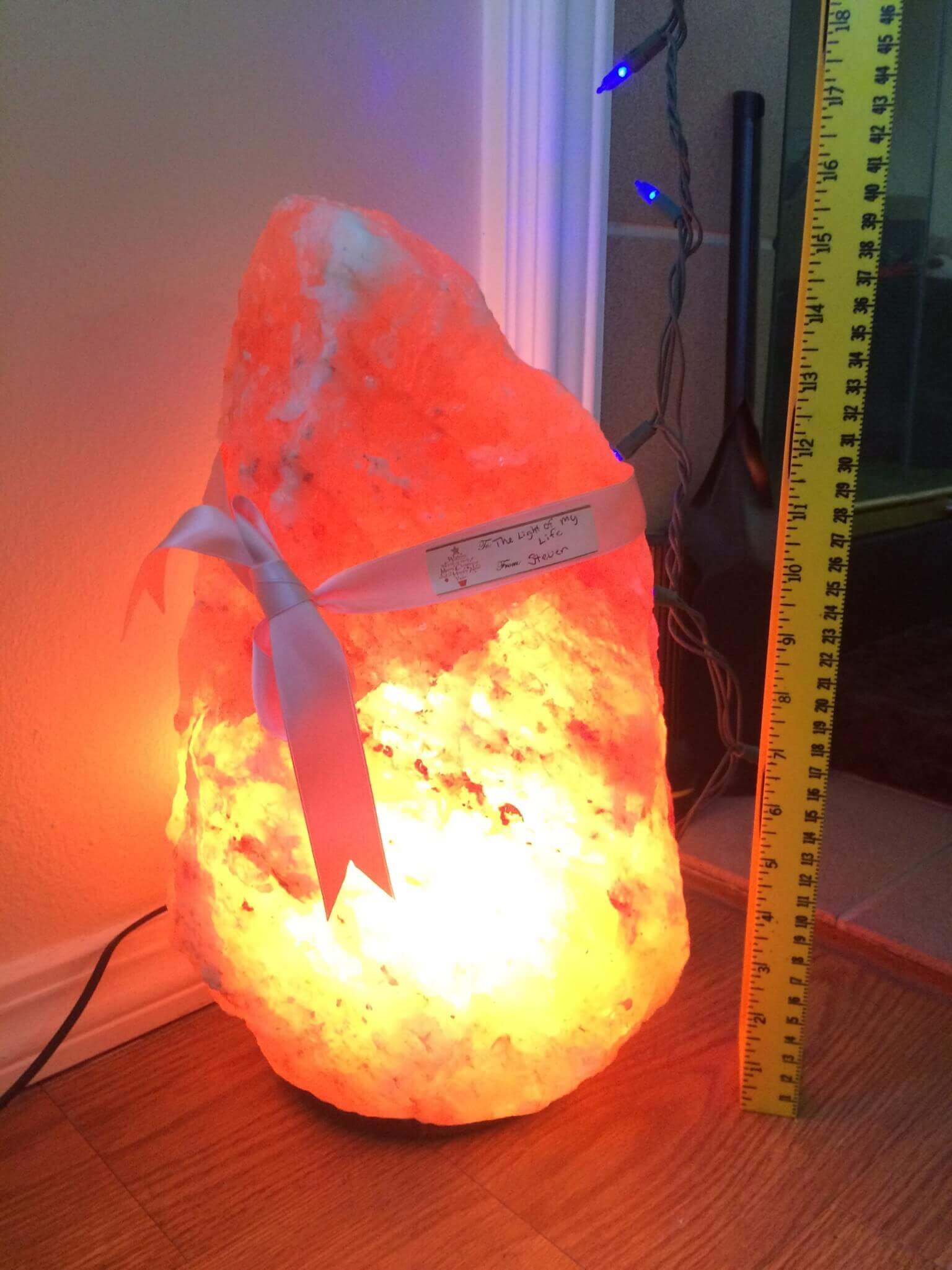 Salt Lamps Large : Large Himalayan Salt Lamp - Pure Pink Salt