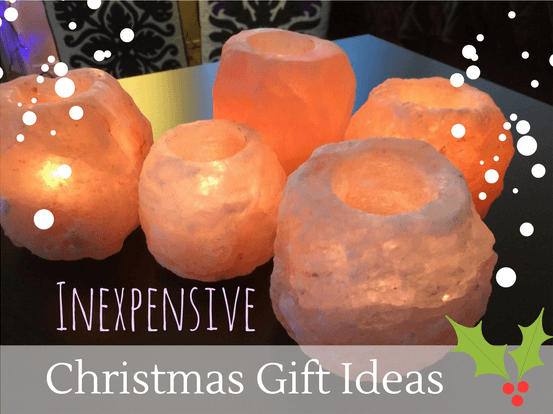 Inexpensive Christmas gift ideas Salt candle holders